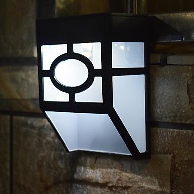 abordables Éclairage Extérieur-1pc 0.2 W Eclairages extérieurs muraux Imperméable / Solaire / Drôle Blanc Chaud / Blanc 1.2 V Eclairage Extérieur / Cour / Jardin 2 Perles LED