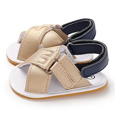 저렴한 9개월-4세 연령대-남아 / 여아 PU 샌들 유아 (0-9m) / 유아 (9m-4ys) 첫 신발 다크 블루 / 브라운 / 밝은 핑크 여름 / 고무