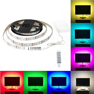 abordables Bandes Lumineuses LED-2m Ensemble de Luminaires 60 LED SMD5050 RVB Découpable / Décorative / Auto-Adhésives Piles AA alimentées / Batteries alimentées 1 set