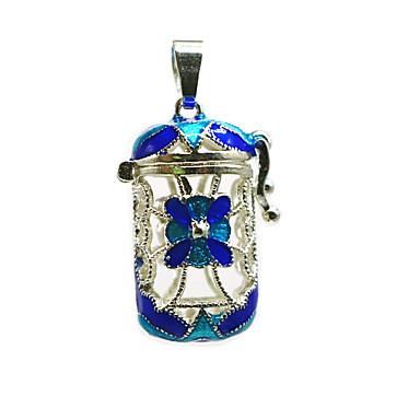 abordables Collier-Femme Pendentif Médaillon Broche Bijoux Bleu Pour Quotidien
