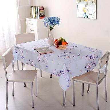 עכשווי קלסי סיבי פוליאסטר ריבוע כיסויי שולחן פרחוני מעוטר מדפיס ידידותי לסביבה עמיד לחום לוח קישוטים