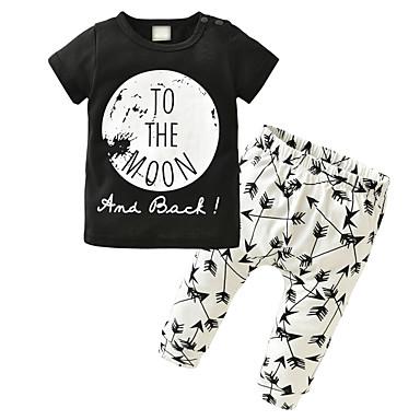 16c3a83ff رخيصةأون صبيان ملابس الرضع-مجموعة ملابس كم قصير طباعة للصبيان طفل