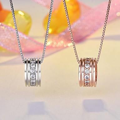 abordables Collier-Femme Pendentif Classique Strass Broche Bijoux Argent Champagne Pour Quotidien