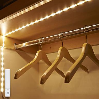 abordables Bandes Lumineuses LED-1.5m Ensemble de Luminaires 90 LED SMD2835 Blanc Chaud Mignon / Découpable / Décorative Batteries alimentées 1 set