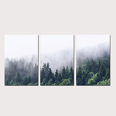 cheap Prints-Print Stretched Canvas Prints - Abstract Landscape Modern Three Panels Art Prints