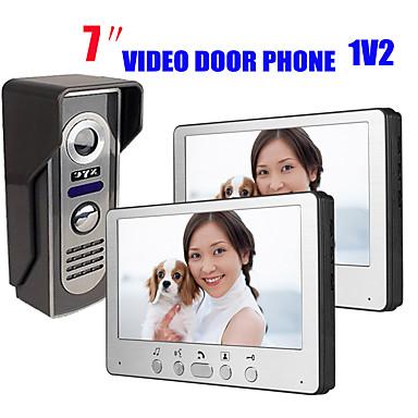 815m12 ultra-vékony, 7 hüvelykes vezetékes videó ajtócsengő hd villa videó kaputelefon kültéri egység éjjellátó eső feloldó funkció
