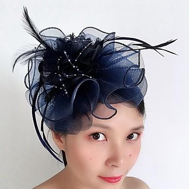 abordables Coiffes-Tulle / Plumes Bâton de cheveux avec Plume / Volants en cascade 1 Pièce Mariage / Occasion spéciale Casque