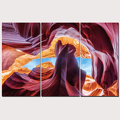 דפוס הדפסי בד מתוחים - L ו-scape מסורתי מודרני שלושה פנלים הדפסים אמנותיים
