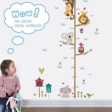 מדבקות גובה - מדבקות קיר חיות חדר ילדים