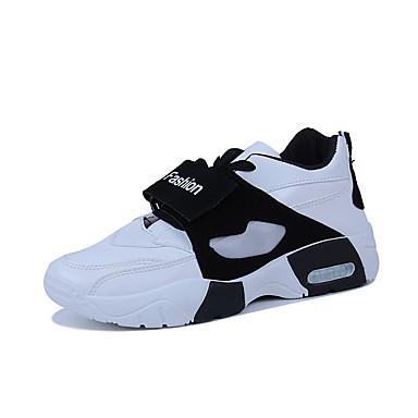 בגדי ריקוד גברים נעלי נוחות PU אביב קיץ / סתיו חורף ספורטיבי / יום יומי נעלי אתלטיקה נושם קולור בלוק לבן / שחור / אדום