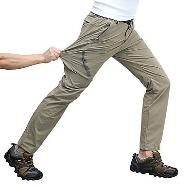 בגדי ריקוד גברים מכנסיים לטיולי הליכה חיצוני נושם ייבוש מהיר מתיחה תומך זיעה סתיו אביב קיץ מכנסיים תחתיות מחנאות וטיולים ציד דיג שחור אפור כהה ירוק צבא M L XL XXL XXXL - Wolfcavalry® / אלסטית מותניים