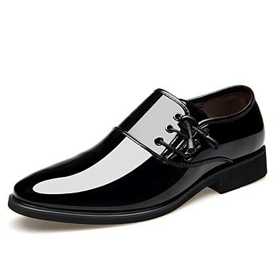 בגדי ריקוד גברים נעליים פורמליות עור אביב קיץ בריטי נעלי אוקספורד ללבוש הוכחה חום / שחור וכסף / חום כהה