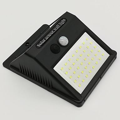 billige Utendørsbelysning-4stk 8 W Solar Wall Light Vanntett / Solar / Infrarød sensor Kjølig hvit 3.7 V Utendørsbelysning / Courtyard / Have 40 LED perler