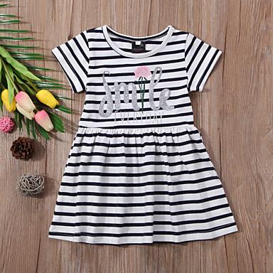 6c1fdc216a3d82 cheap Girls' Dresses-Kids Toddler Girls' Striped Dress White