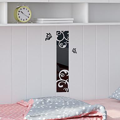 מדבקות קיר דקורטיביות - מדבקות קיר מראות מופשט / 3D פנימי / חדר ילדים