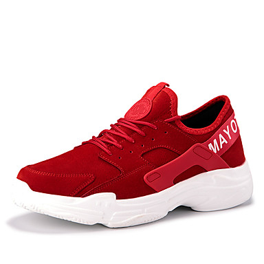 cheap Featured Deals-Men's Comfort Shoes Faux Leather Spring & Summer / Fall & Winter Casual Athletic Shoes Breathable Black / Gray / Red