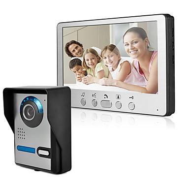 אולטרה רזה 7 אינץ 'wired וידאו הדלת HD וילה אינטרקום חוצות יחידה זווית מתכווננת 815fa11