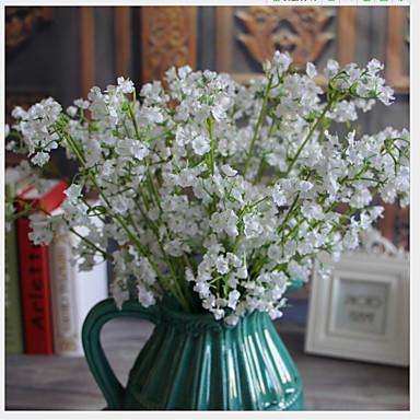 פרחים מלאכותיים 10 ענף קלאסי מודרני עכשווי גיבסנית פרחים לשולחן