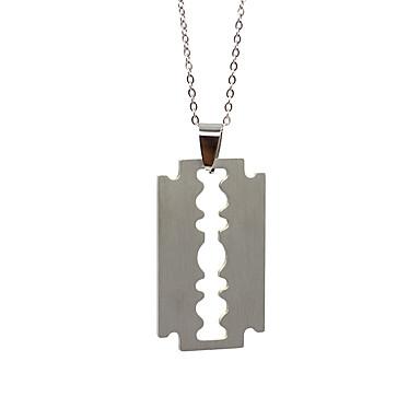 voordelige Dames Sieraden-Heren Dames Zilver Hangertjes ketting Charme ketting Klassiek Tandwiel Eenvoudig Roestvast staal Zilver 50 cm Kettingen Sieraden 1pc Voor Dagelijks