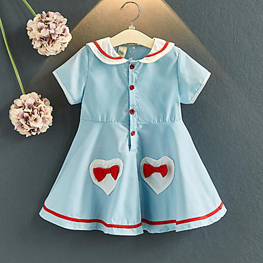 c88127c3d cheap Girls' Dresses-Kids Girls' Sweet Street chic Striped