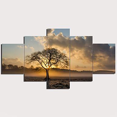 דפוס הדפסי בד מתוחים - L ו-scape מסורתי מודרני חמישה פנלים הדפסים אמנותיים