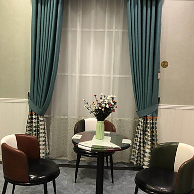 Contemporary Privacy Two Panels Curtain Living Room Curtains