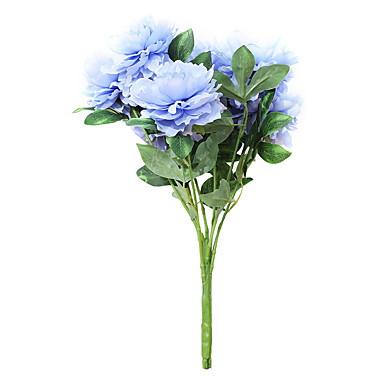 פרחים מלאכותיים 1 ענף קלאסי סגנון מינימליסטי אדמוניות פרחים לשולחן