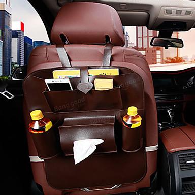 voordelige Auto-organizers-54x40cm autostoel rugtas organizer opslag ipad telefoonhouder multi pocket pu leer