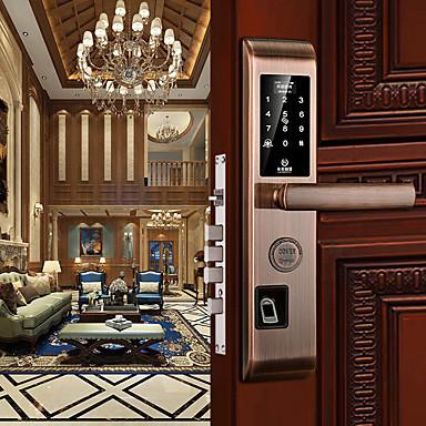 billiga Säkerhet och skydd-smart låskombination låsfingeravtryck lås kort lösenord med app stöldskydd elektroniska lås 6068 lås kropp smart säkerhet hemdräkt för vänster dörr höger dörr