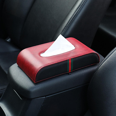 voordelige Auto-organizers-auto microfiber lederen handsteun tissue doos servet pompen papier draagbare kantoor papier houder geval