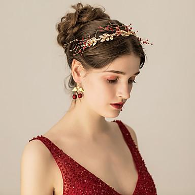 סגסוגת רצועות / מצנפת עם מתכת יחידה 1 חתונה / מסיבה\אירוע ערב כיסוי ראש
