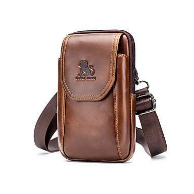 preiswerte Taschen-Herrn / Jungen Taschen Rindsleder Hüfttaschen Geprägt Tier Schwarz / Braun