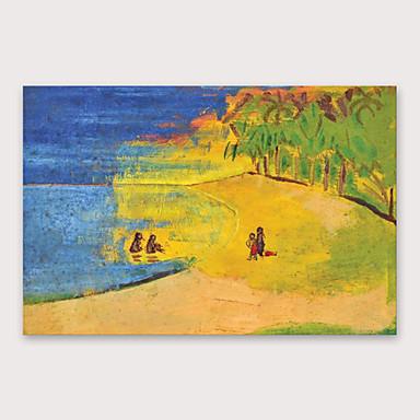 ציור שמן צבוע-Hang מצויר ביד - מופשט מודרני כלול מסגרת פנימית