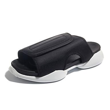 בגדי ריקוד גברים נעלי נוחות סינטטיים קיץ יום יומי כפכפים & כפכפים נושם שחור / שחור ולבן
