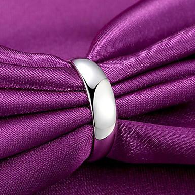voordelige Heren Ring-Heren Dames Klassiek Bandring Open Ring Verzilverd Kostbaar Stijlvol Eenvoudig Rock Modieuze ringen Sieraden Zilver Voor Dagelijks Werk Verstelbaar