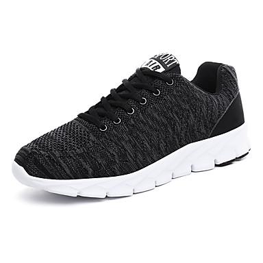 בגדי ריקוד גברים נעלי נוחות רשת אביב קיץ / סתיו חורף ספורטיבי / יום יומי נעלי ספורט נושם שחור / אפור / אדום