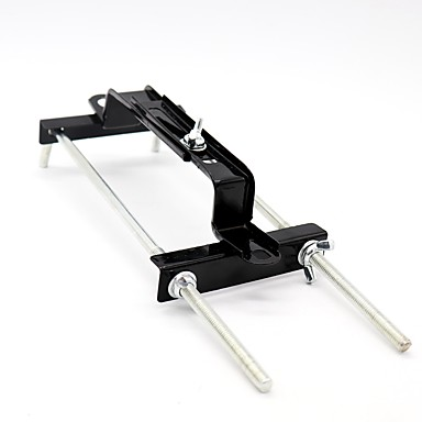 voordelige Auto-interieur accessoires-Universele verstelbare crossbar batterijhouder naar beneden beugelhouder auto suv tie zaak