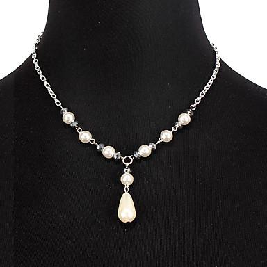 בגדי ריקוד נשים שרשרת אלומיניום כסף 47 cm שרשראות תכשיטים 1pc עבור יומי בית הספר רחוב חגים פֶסטִיבָל