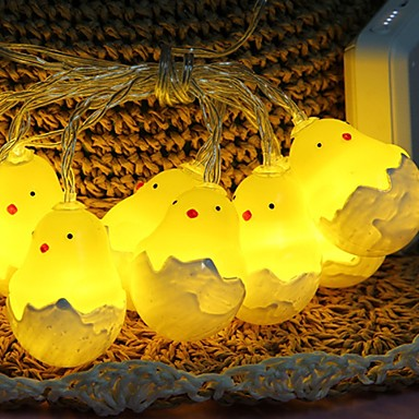 1.5m חמוד ברווז פיות מחרוזת אורות 10 מדים צהוב דקורטיבי aa סוללות מופעל 1 סט