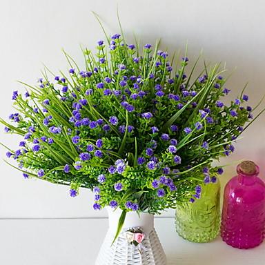 פרחים מלאכותיים 1 ענף קלאסי מודרני גיבסנית פרחים לשולחן