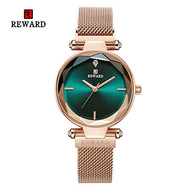 baratos Relógios Senhora-Mulheres Relógios de Quartzo Casual Fashion Preta Prata Dourada Aço Inoxidável Chinês Quartzo Preto Roxo Dourado Criativo Relógio Casual Legal 1 Pça. Analógico
