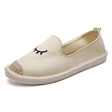 Kadın's Mokasen & Bağcıksız Ayakkabılar Düz Taban Kot Bahar Siyah / Bej