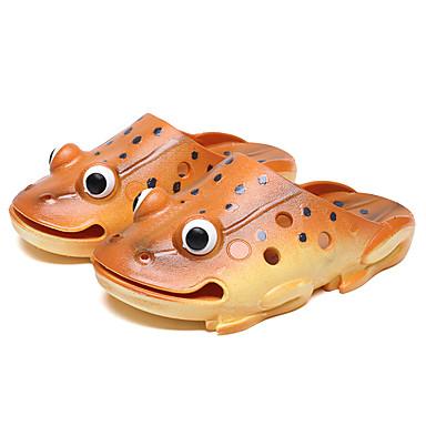 baratos Sapatos de Criança-Para Meninos / Para Meninas Borracha Chinelos e flip-flops Criança (9m-4ys) / Little Kids (4-7 anos) Inovador Água Vazados Dourado / Amarelo / Verde Verão / 3D