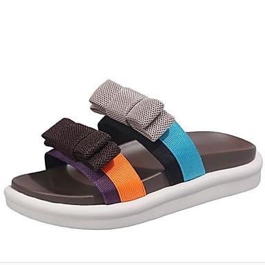 voordelige Damespantoffels & slippers-Dames Slippers & Flip-Flops Creepers Microvezel Zomer Zwart / Groen / Koffie