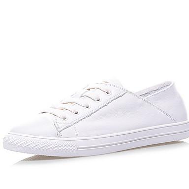 Kadın's Spor Ayakkabısı Düz Taban Yuvarlak Uçlu Tüylü Yaz Beyaz / Kırmzı