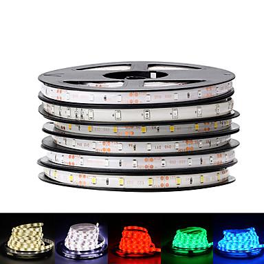 billige LED Strip Lamper-loende 2pack ip65 vanntett 300leds / 5m smd 3528 rgb led stripe lys fleksibel diode tape dc12v ledet bånd 60led / m led stripe for hjemmedekorasjon