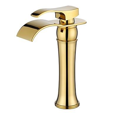 Ванная раковина кран - Широко распространенный Ti-PVD По центру Одной ручкой одно отверстиеBath Taps
