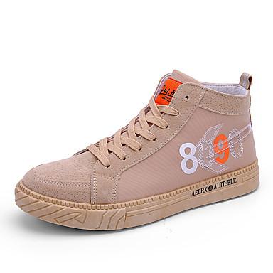 Erkek Ayakkabı PU Sonbahar / İlkbahar yaz İngiliz / Çıtı Pıtı Spor Ayakkabısı Günlük / Dış mekan için Siyah / Beyaz / Haki
