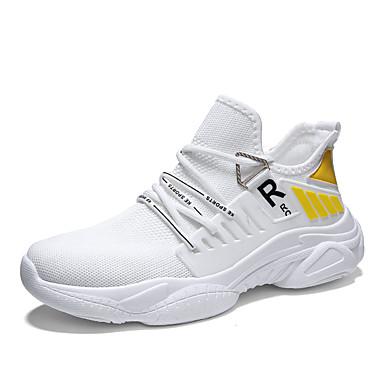 Erkek Ayakkabı Elastik Kumaş Sonbahar Sportif Atletik Ayakkabılar Günlük için Siyah / Beyaz / Sarı / Beyaz