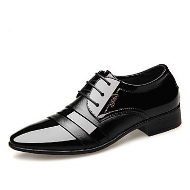 Erkek Ayakkabı PU Bahar / Sonbahar Günlük / İngiliz Oxford Modeli Yürüyüş Parti ve Gece / Ofis ve Kariyer için Siyah